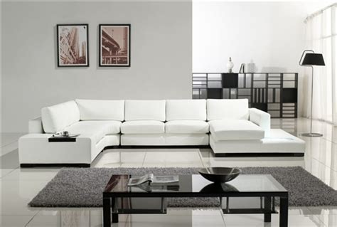 White Modern Sectional Sofa Modern White Leather Sectional Sofa Tos Lf 2029