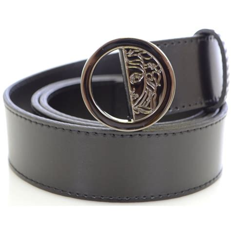 versace collection buckle leather belt