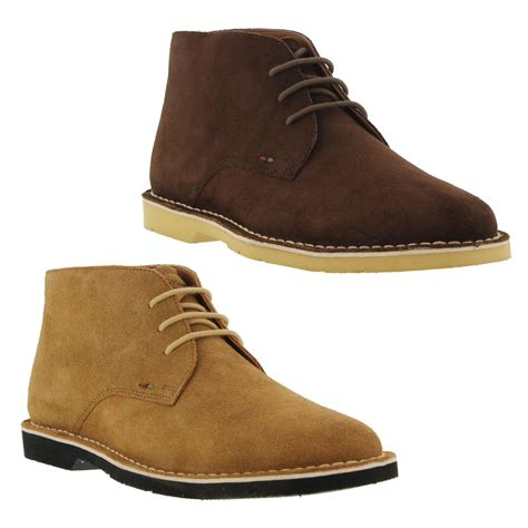 Boot Pria Kickers Leather Suede kickers kanning chukka mens suede leather chukka boots size uk 7 11 ebay
