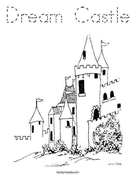 print this coloring page itll print full page dream castle coloring page tracing twisty noodle