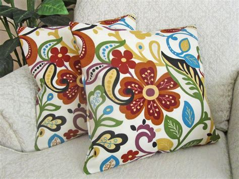 Decorative Pillows And Throws by Floral Throw Pillow Cover Decorative Sofa Cushion Cover Orange