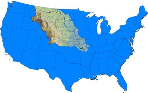 where does the missouri river start and end map