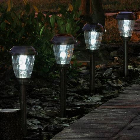 solar lights for backyard charleston solar pathway lights pewter 3426wrm6 hp