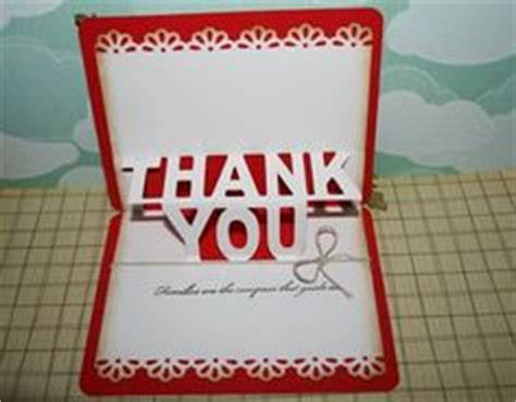 how to make a pop up thank you card 1000 images about thank you card ideas on