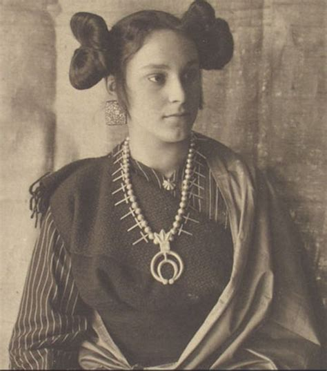 1800s cherokee women hairstyles navajo woman late 1800 s with a naja squash blossom