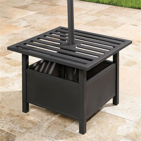 outdoor side table with umbrella umbrella stand side table umbrellas bases brylanehome