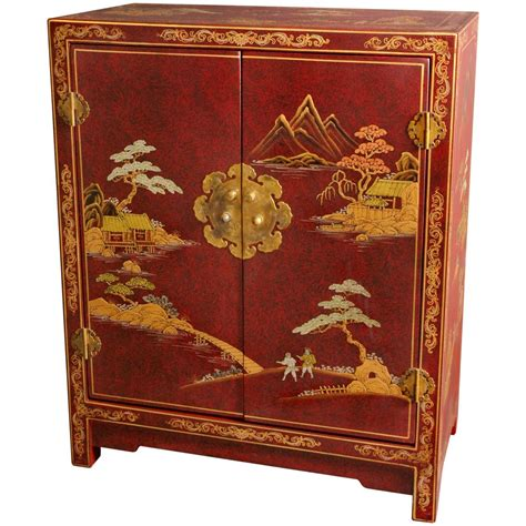 oriental sofas oriental furniture red crackle lacquer cabinet ebay