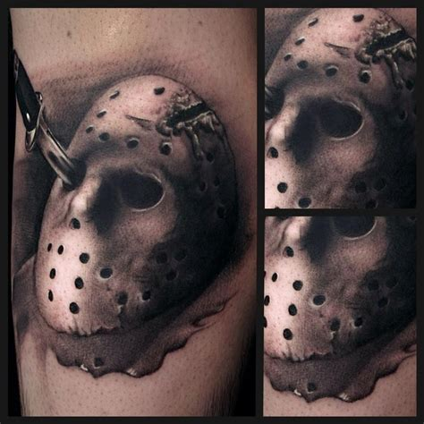 tattoo junkies aftercare black and grey friday the 13th tattoo by ryan mullins