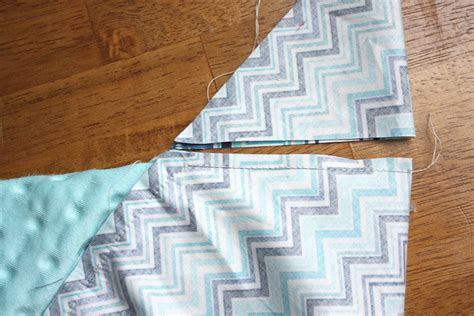 Sewing Mitered Corners On A Quilt by Cuddle Baby Self Binding Receiving Blanket Sewciety