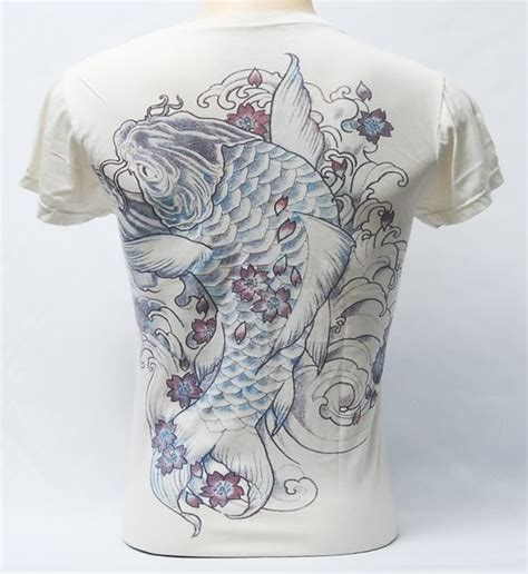 yakuza tattoo fish giant koi fish yakuza tattoo t shirt v neck short sleeve