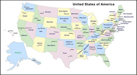 usa map with all states and capitals usa map with states and capitals