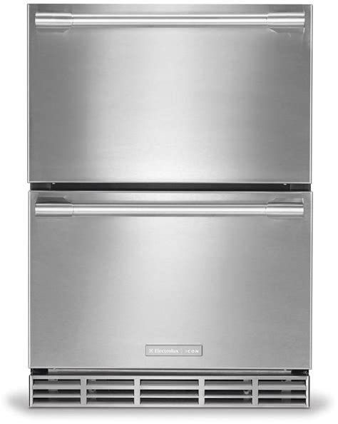 built in single drawer refrigerator electrolux e24rd75hps 24 inch built in double drawer