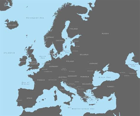 maps vector vector map of europe with countries illustrator svg