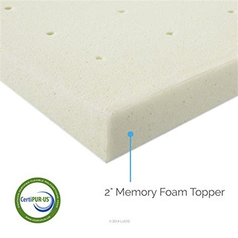 2 In Memory Foam Mattress Topper by Lucid 2 Inch Ventilated Memory Foam Mattress Topper