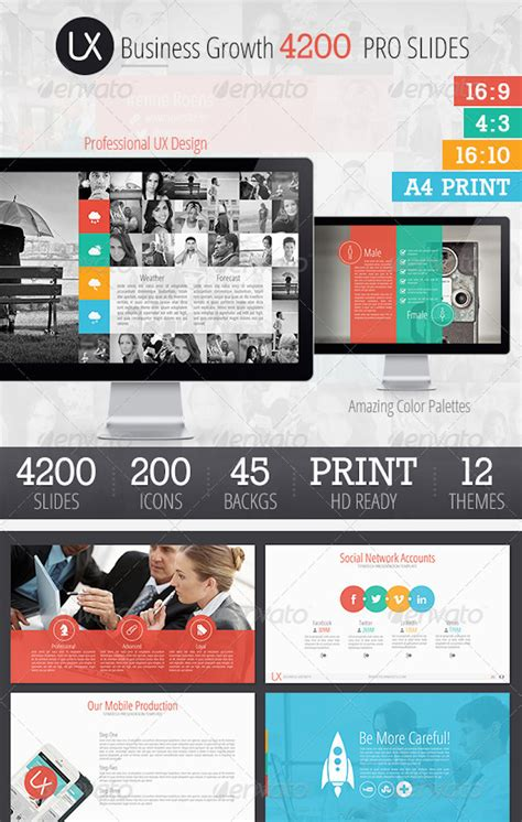 4200 Pro Slides Ux Design Presentation Template Best Designers Ux Design Presentation Template Free