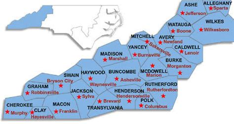 mountain region map, current weather forecast, snow report (asheville, lenoir: ski resorts
