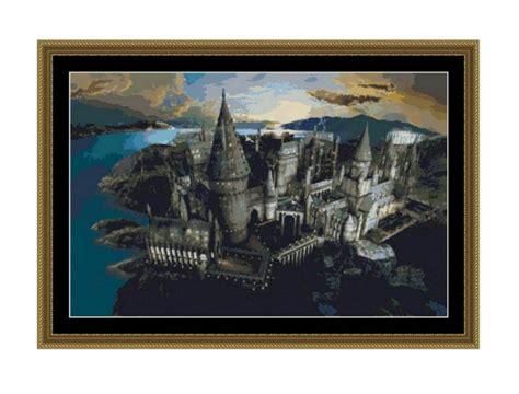 pattern etsy price sale half price cross stitch pattern hogwarts castle instant