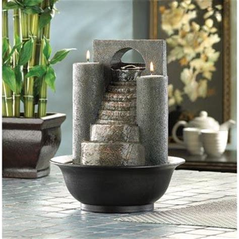 feng shui indoor water fountain cascading steps zen decor