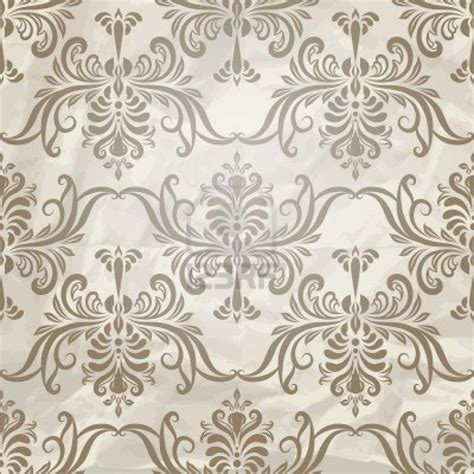 old paper pattern vector vector seamless vintage wallpaper pattern on crumpled