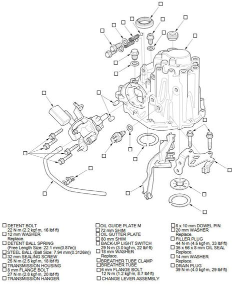 small engine repair training 2007 honda fit transmission control exploded view transmission housing manual transmission transaxle powertrain honda