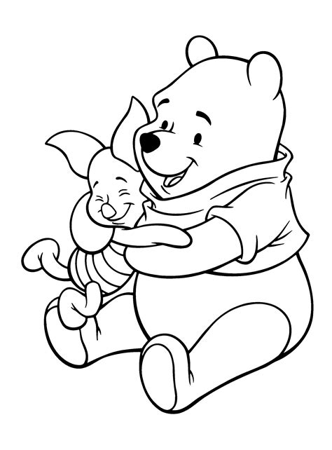 pooh and piglet coloring pages coloring home