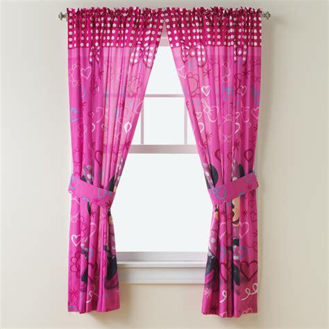 minnie mouse curtains set disney minnie mouse panel pair tiebacks