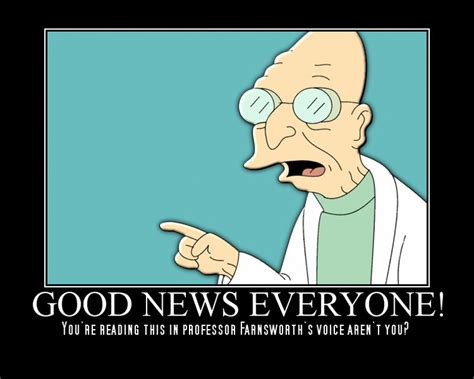 Professor Farnsworth Meme - good news everyone sportshoopla sports forums