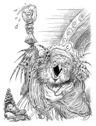 Mother Horsefeather, a shryke from Chris Riddell and Paul