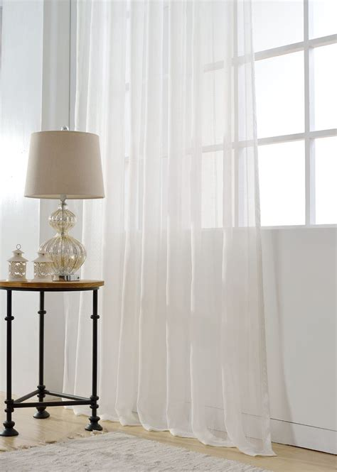 Simple Modern Curtains Inspiration 2xcustom Ivory White Modern Simple Contemporary Stripe Geometric Sheer Curtain Ebay