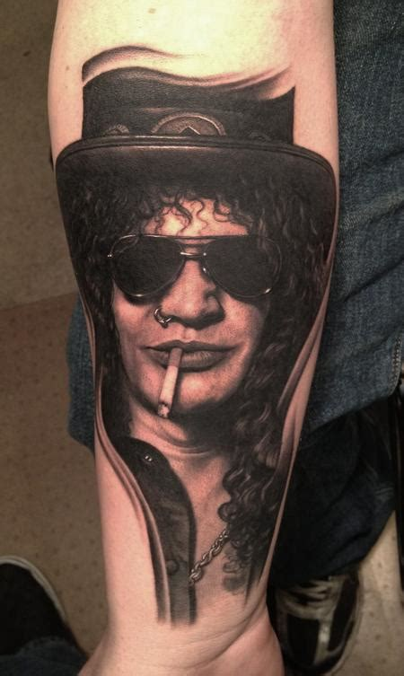 bob tattoos bob tyrrells gallery tattoos portrait slash