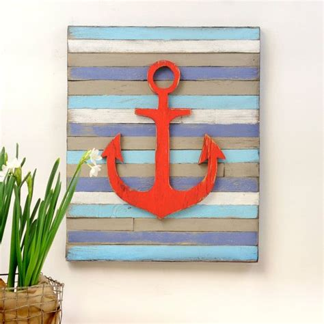 anchor home decor anchor pallet nautical decor wall art