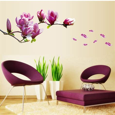 diy wall stickers diy wall sticker pvc cherry tree or magnolia pattern room