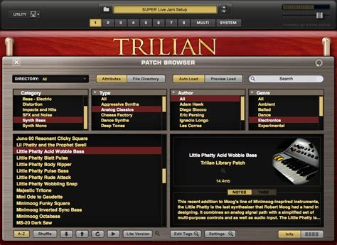 Trilian Spectrasonic Bass Instrument Vsti Vst Plugin Update spectrasonics products trilian total bass module