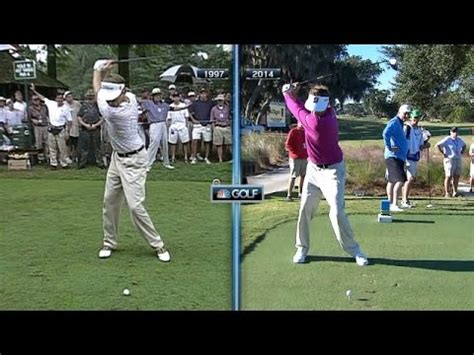 davis love golf swing davis love iii swing off the tee then now at mcgladrey