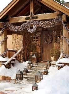christmas decor log cabin