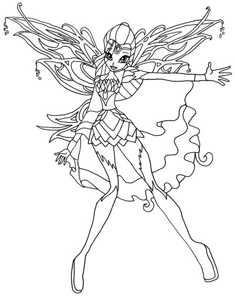 Winx Bloomix Coloring Pages coloriage bloom bloomix winx 224 imprimer