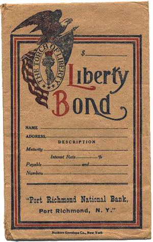 liberty bond storage envelope museum of american finance