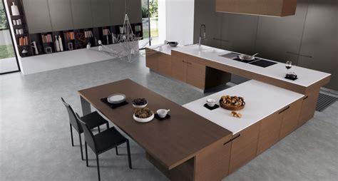 u shaped kitchen island 25 white and wood kitchen ideas