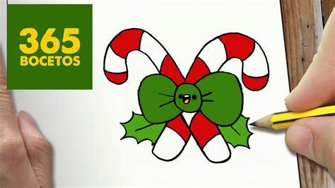 imágenes de navidad kawaii como dibujar baston navidad kawaii paso a paso dibujos