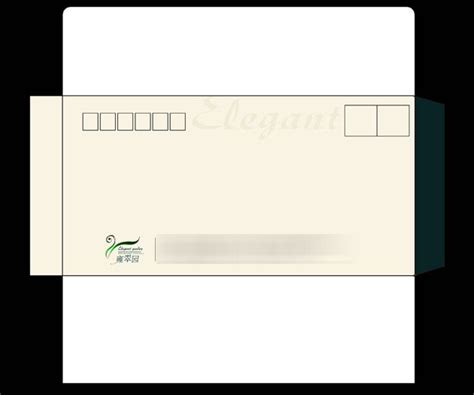 envelope design template psd corporate envelope illustration psd material