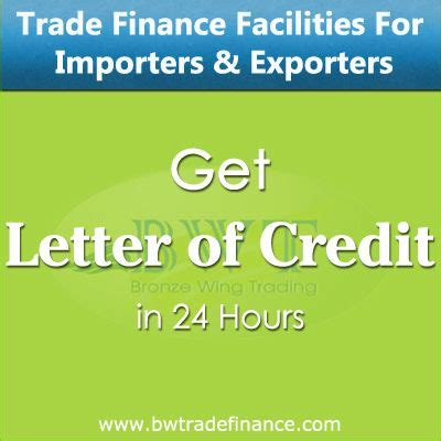 Trade Finance Letter Of Credit Avail Letter Of Credit For Importers Exporters 47 Financial Services Equipment
