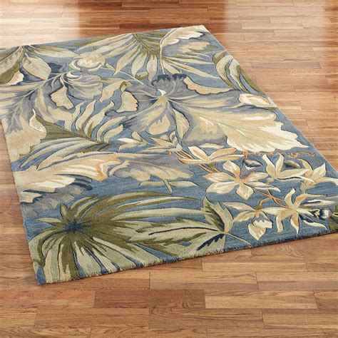 tropical rugs paradise blue tropical area rugs