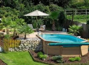 backyards with above ground pools piscine hors sol les top 5 avantages et id 233 es en photos