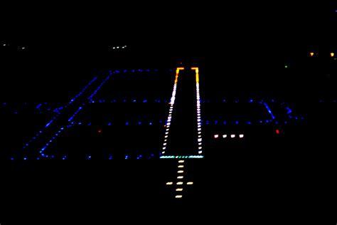 runway lights at night airport runway lighting systems