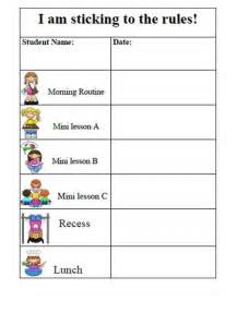 behavior sticker chart template search results for daily behavior chart template
