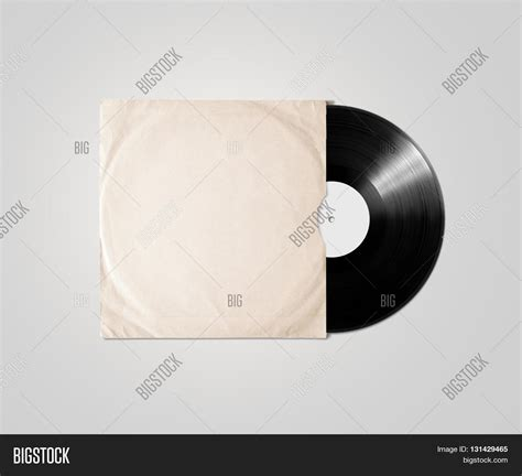 blank vinyl album cover sleeve mockup isolated clipping