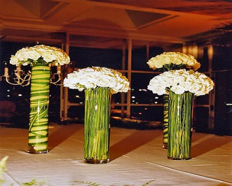 Inexpensive Home Decorations white tall table tall flower arrangements for weddings