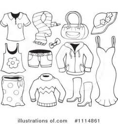 Royalty Free RF Clothes Clipart Illustration By Visekart  Stock sketch template