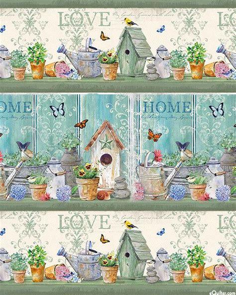 dream garden birdhouse stripe quilt fabrics  www