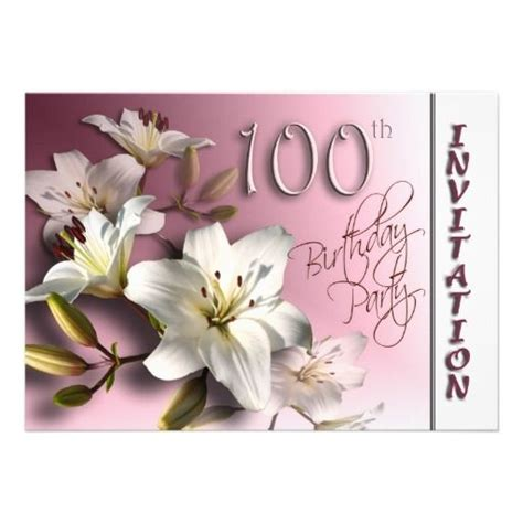 21 Best 100th Birthday Invitation Templates Images On Pinterest Birthday Invitations Birthday 100th Birthday Invitation Templates Free